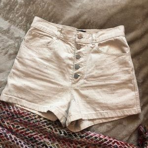 Urban Outfitters BDG Cream Shorts